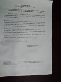 ZMIANY ORGANIZACYJNE - projekt zarządzenia Ministra Rolnictwa i Rozwoju Wsi