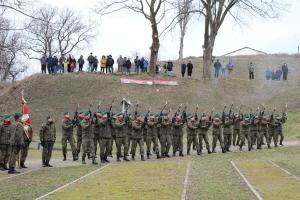 Pierwszy polski słup graniczny na Odrze